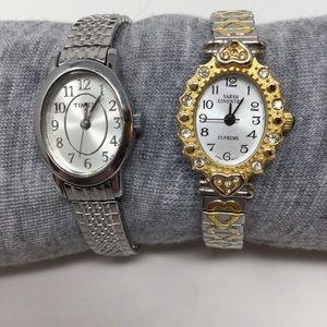 2 Stretch Watches Sarah Coventry & Timex